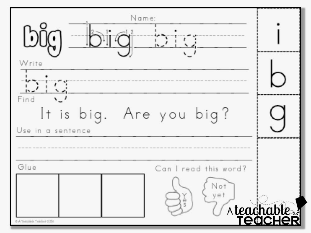 Free Sight Word Practice – Free Sight Word Worksheets