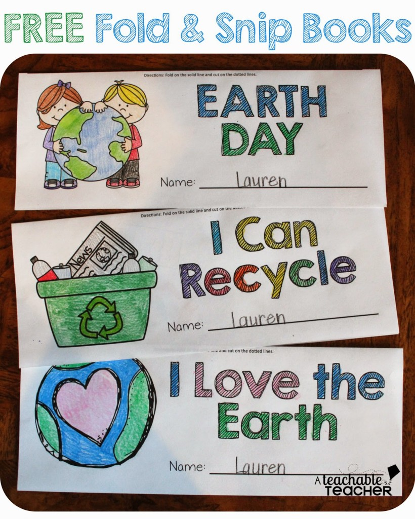 FREE Earth Day Fold & Snip Books