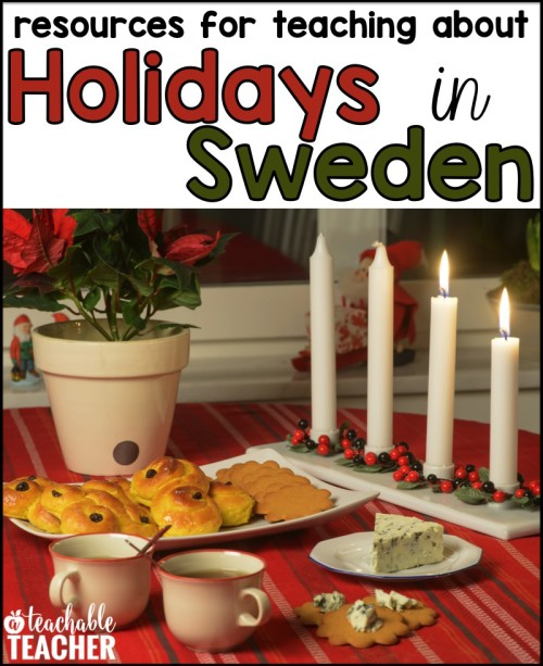 FREE resources for teaching about holidays in sweden