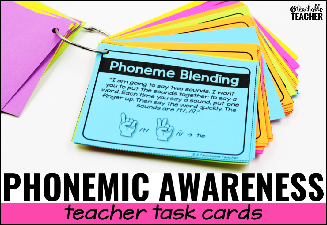 Phonemic awareness activities for kindergarten, first grade, and intervention