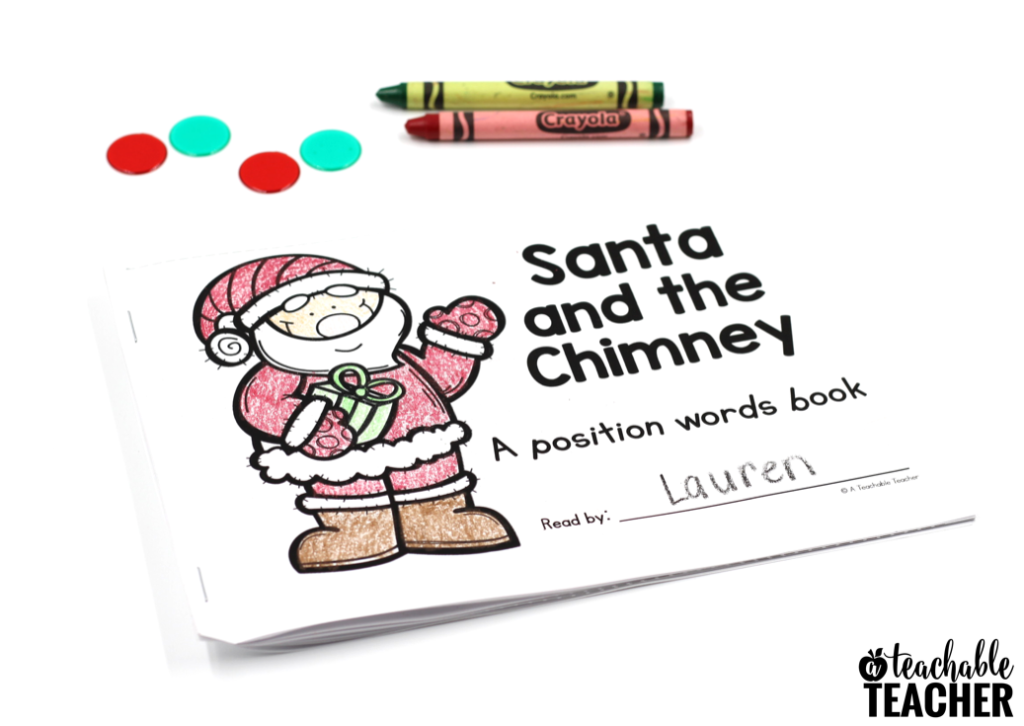 Christmas Position Words Activity Book
