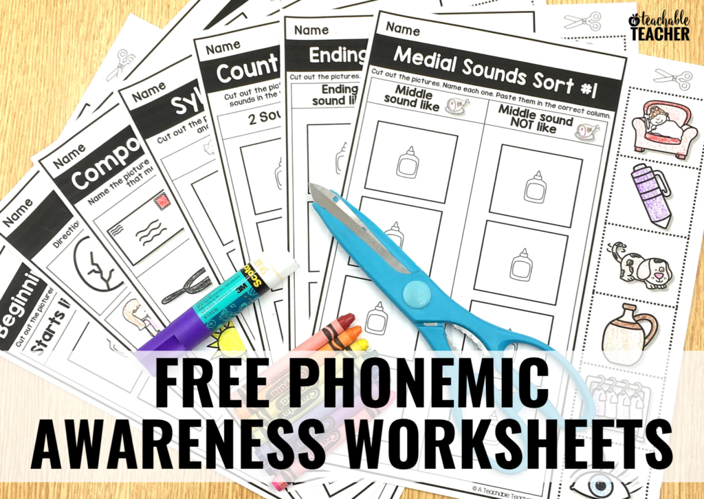 printable phonemic awareness activities