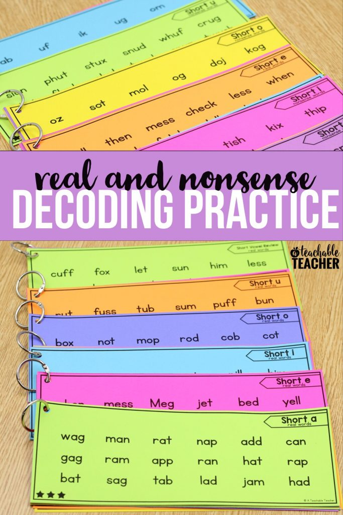 reading nonsense words fluency activities