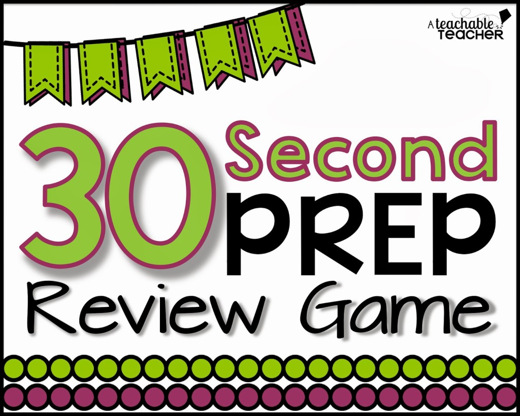 Easy 30 Second Prep Review Game