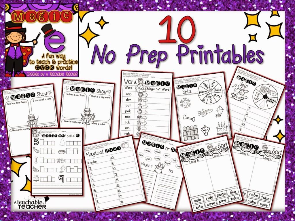 CVCE student practice printables