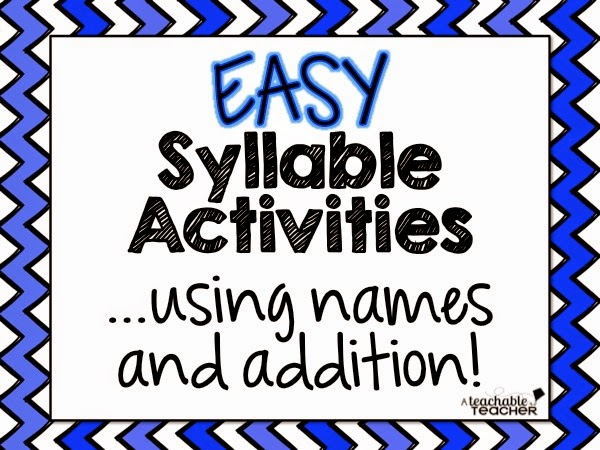 Easy Syllable Activities