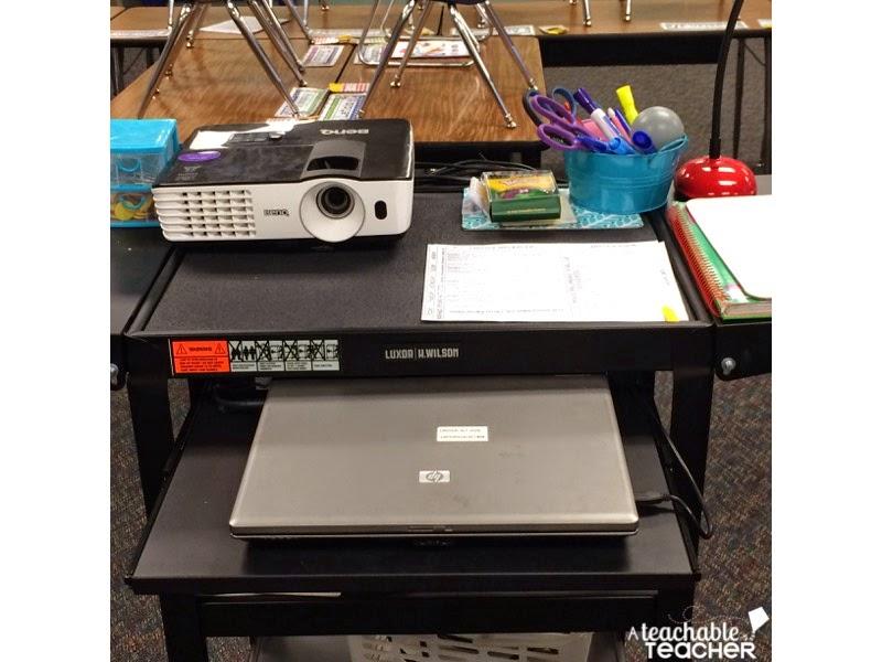 audio/visual cart for classroom