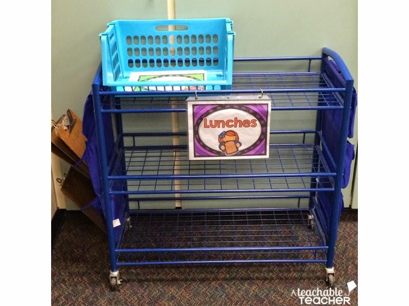 Lakeshore cart | winter classroom updates
