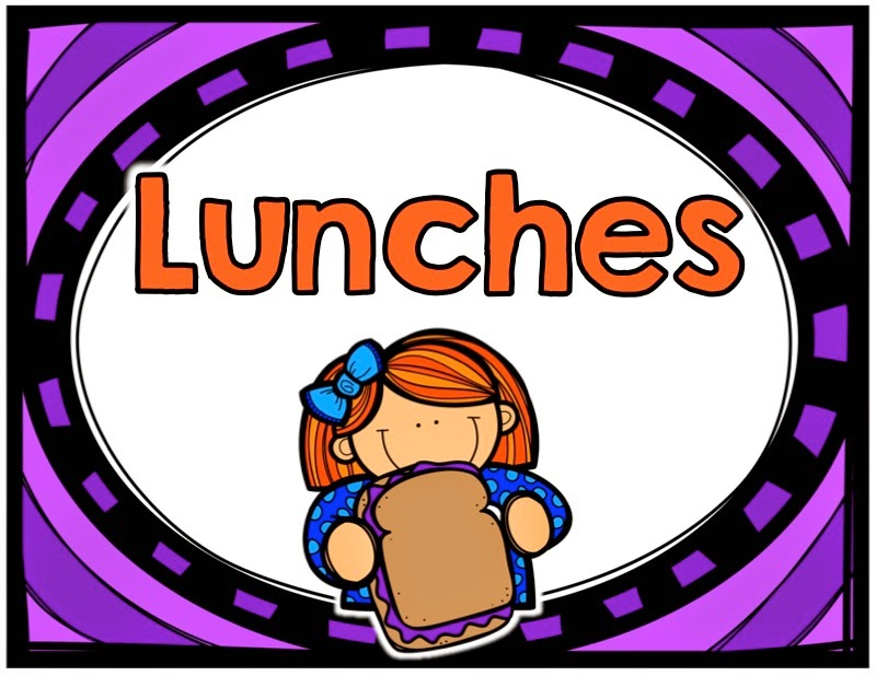 winter classroom updates Lunches