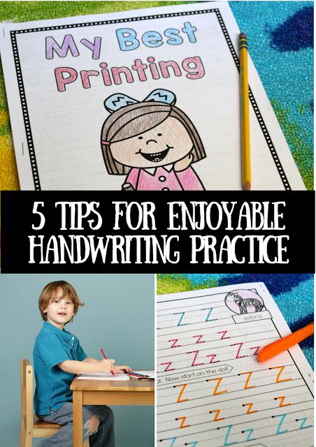 5 Tips for Enjoyable Handwriting Practice