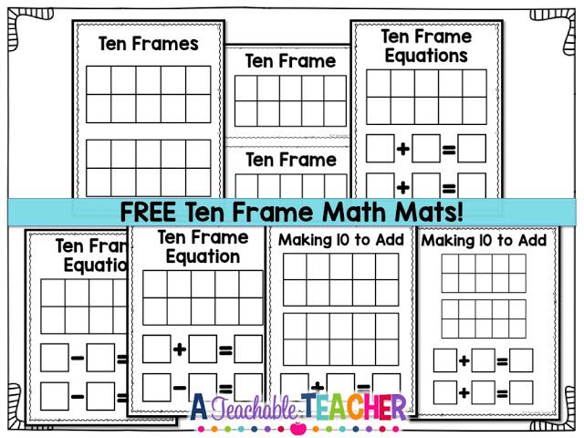 Ten Frame Fun for Free!