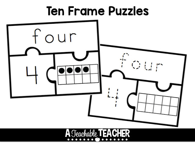 Ten Frame Fun for Free! - A Teachable Teacher