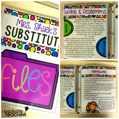 substitute binder example