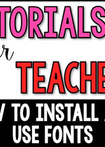 how to install and use fonts