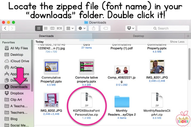 locate the zipped file in your downloads folder. Double click it