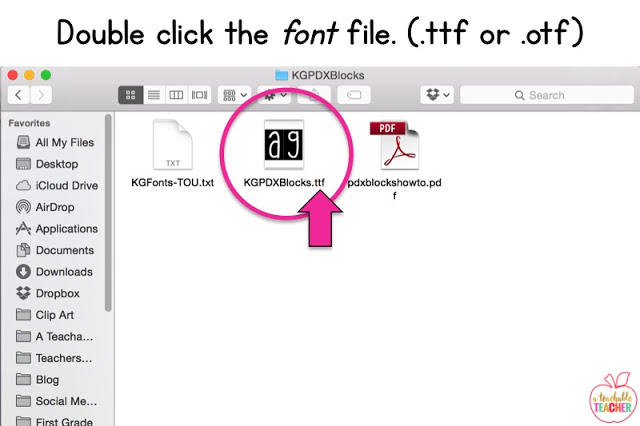 double click the font file | how to install and use fonts