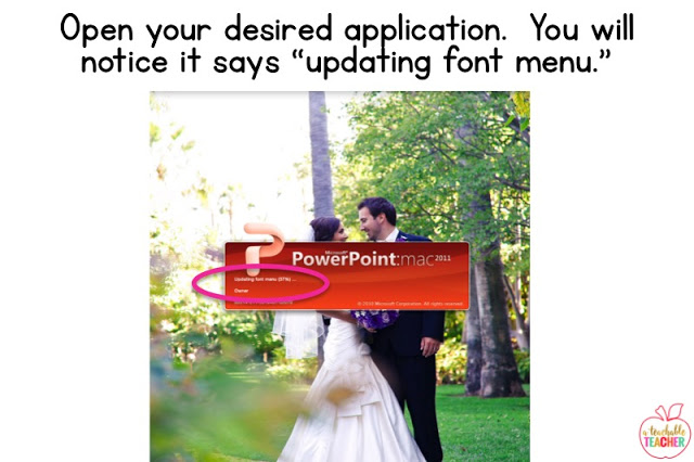 open your desired application. | how to install and use fonts