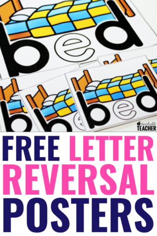 letter reversals posters