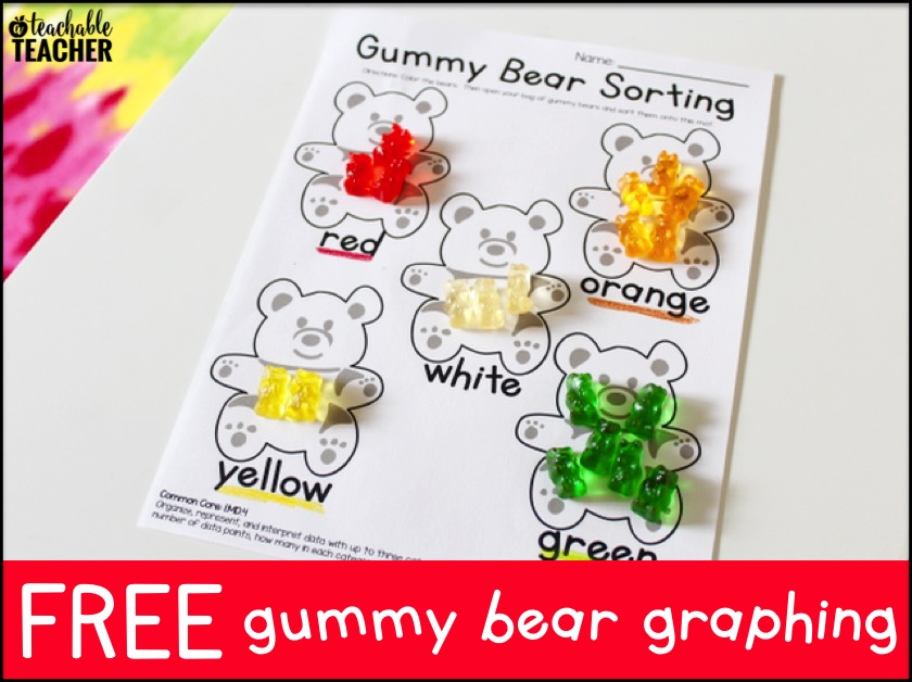 Free Gummy Bear Graphing