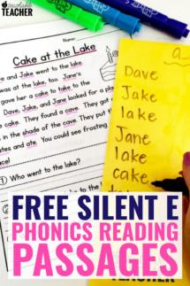 free silent e passages