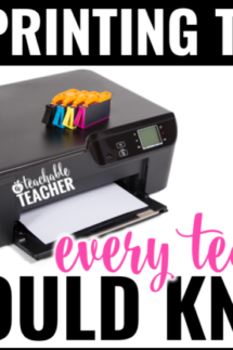 Printing trick with endless ink for treachers