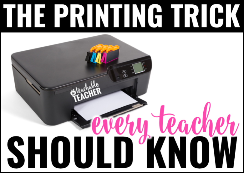 Printing trick with endless ink for treachers featured image