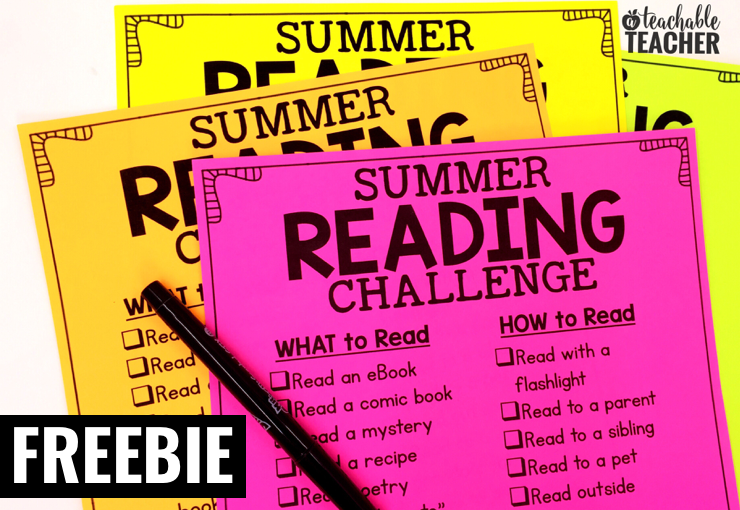 This summer reading list for kids will challenge how and what your student(s) read this summer!