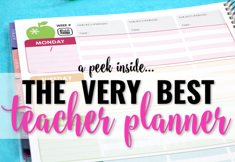 the best teacher planner by erin condren
