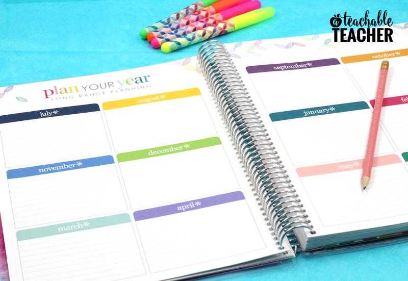 teacher planner monthly