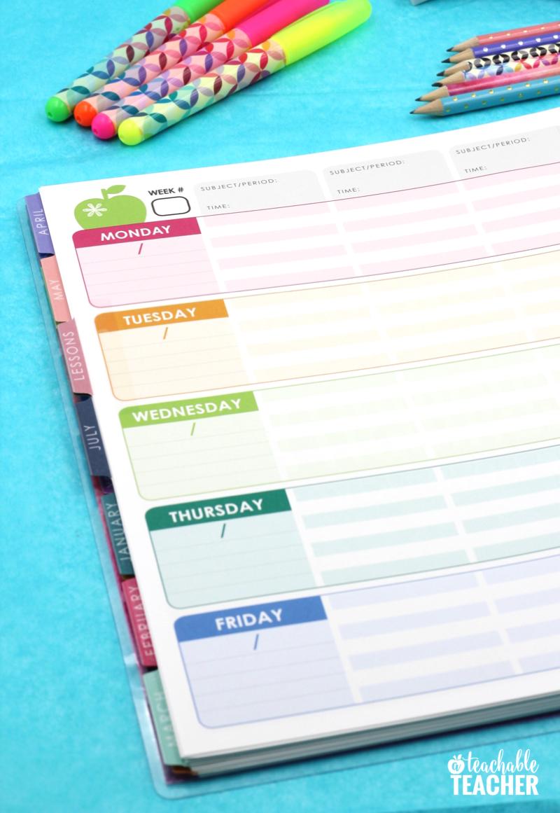 teacher planner layout