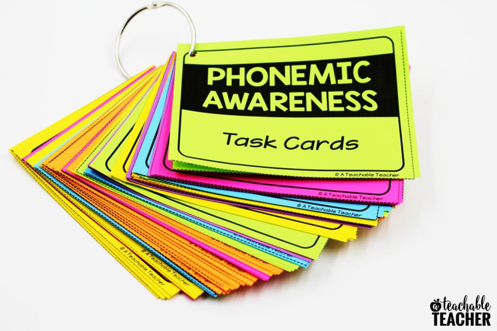 phonemic awareness teacher task cards