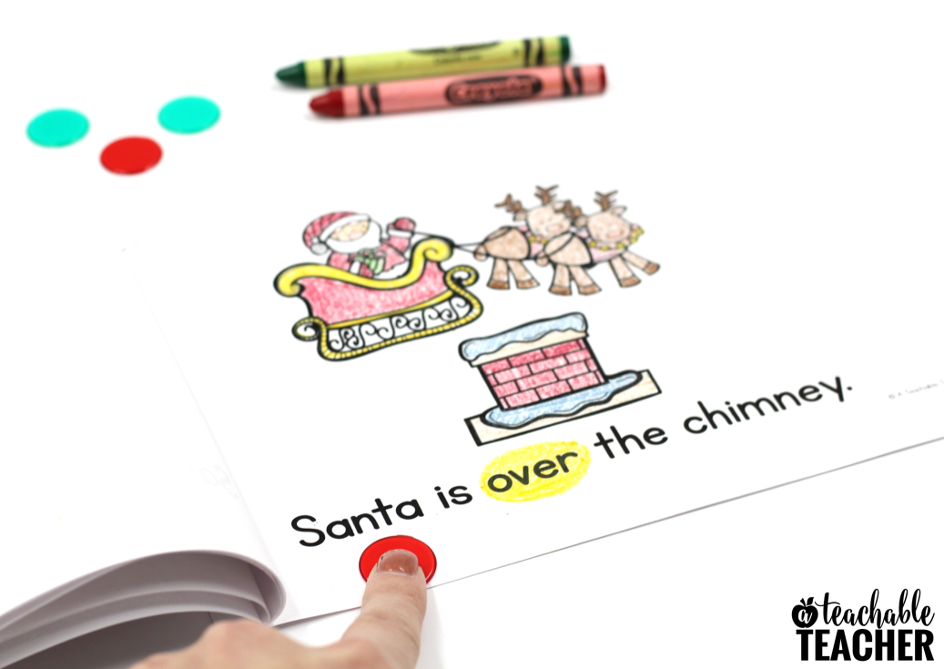 free Christmas position words activity