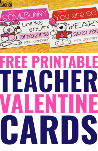 teacher valentine cards