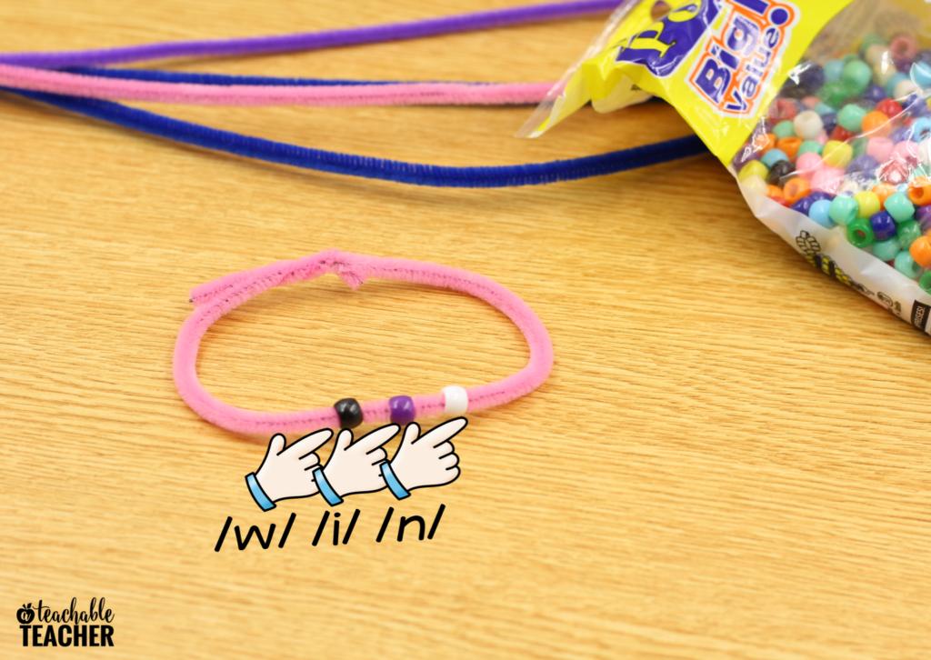 blending and segmenting bracelets