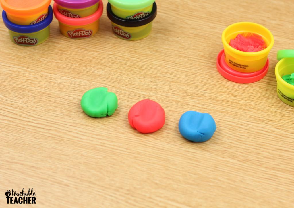 playdough classroom activity