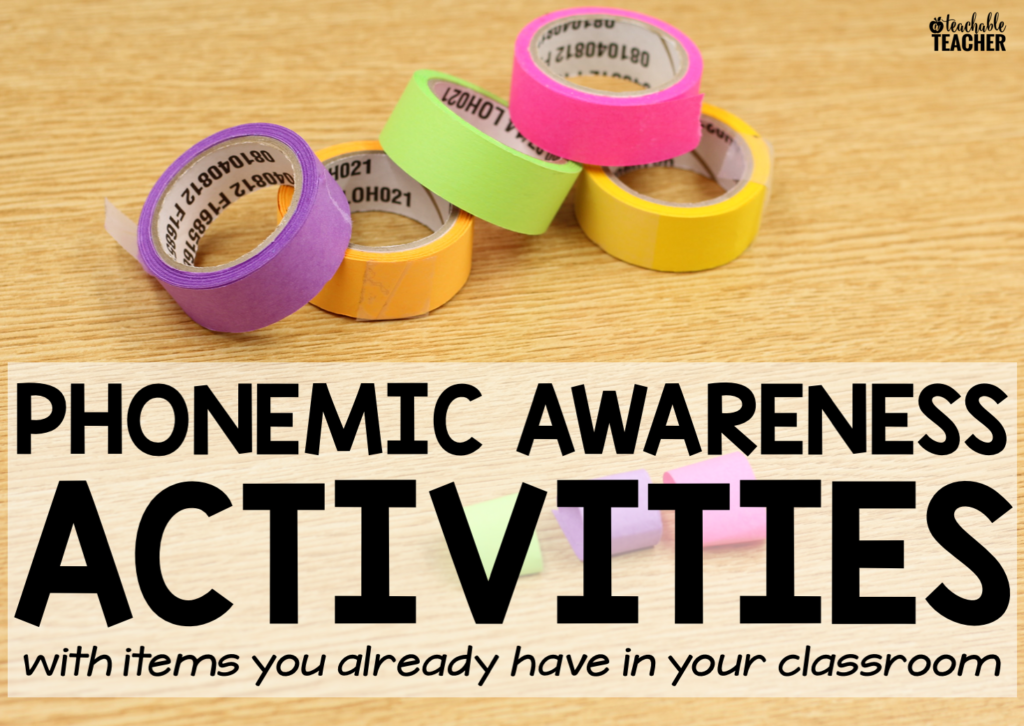 beginning phonemic awareness activities