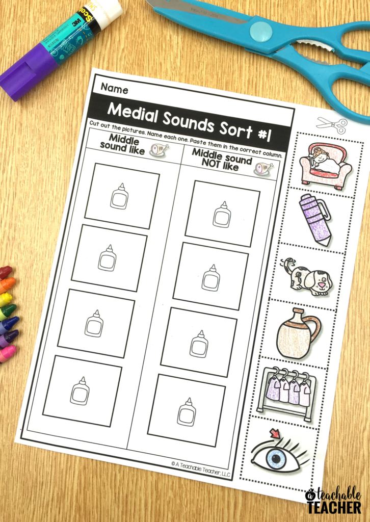 practice medial sounds