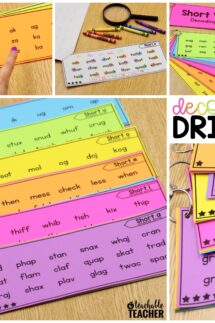 decoding drills for fluency with short vowels