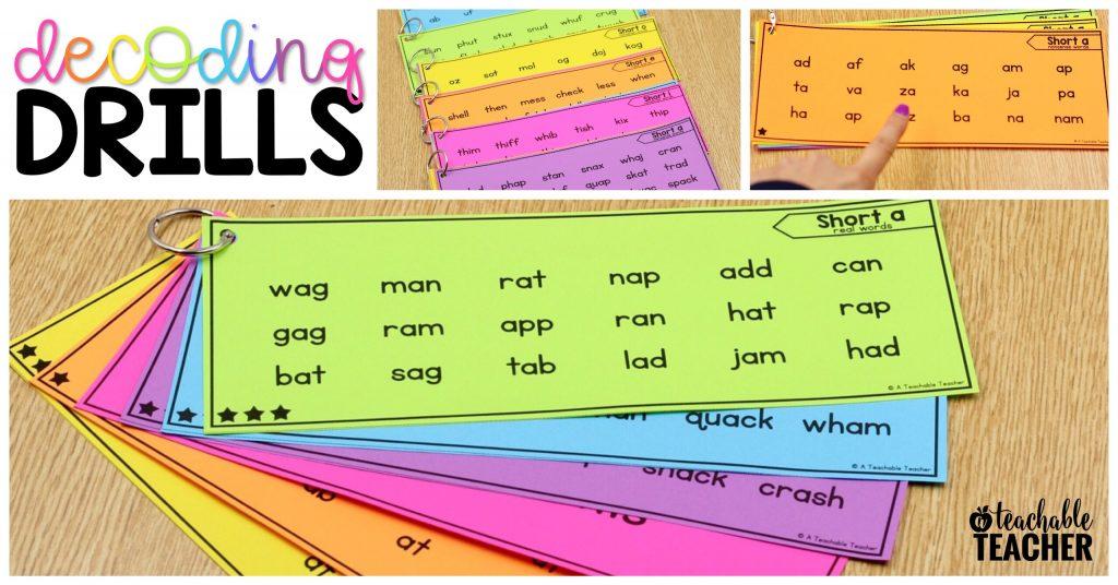 reading phonics word lists