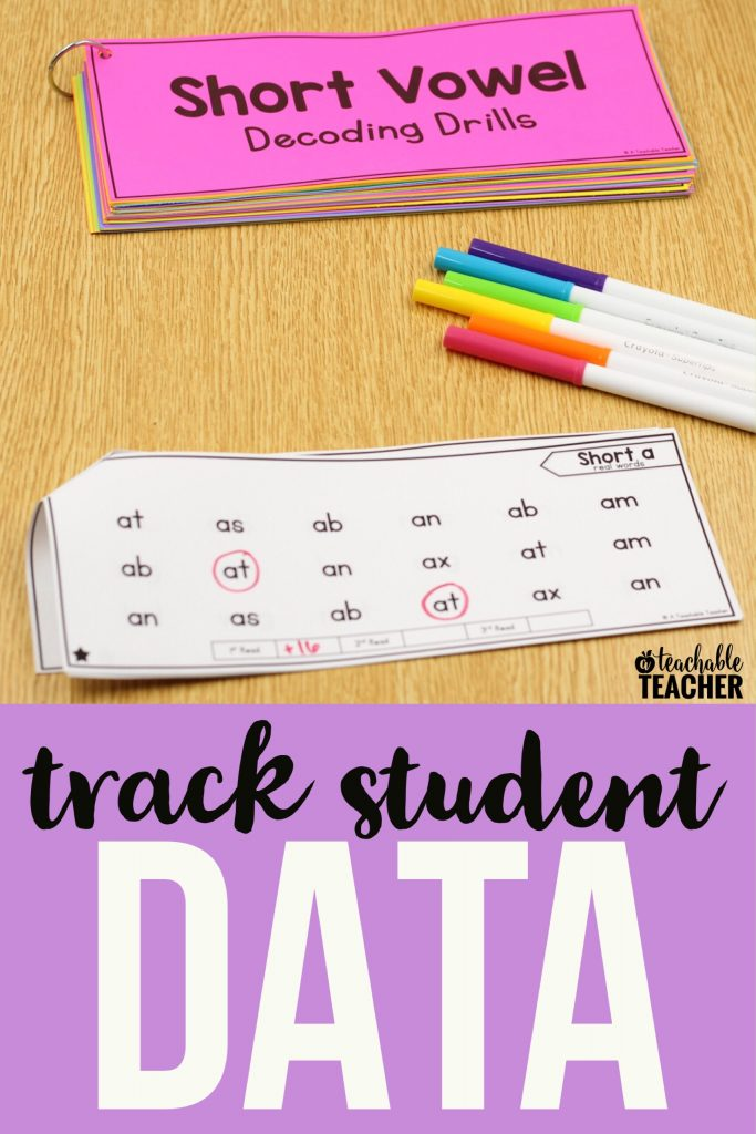 data tracking phonics decoding reading