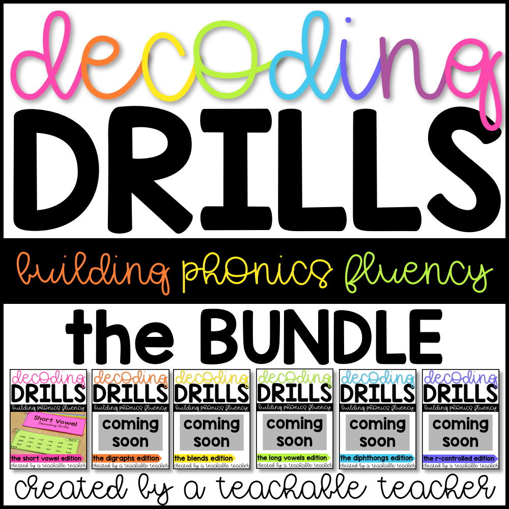 Decoding drills for fluency a teachable teacher decoding drills fluency bundle ibookread