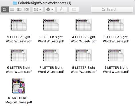 editable worksheet activity