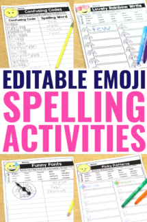editable spelling worksheets