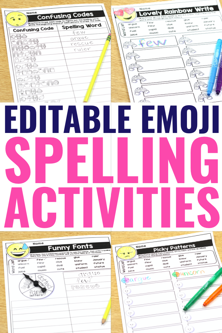 Editable Spelling Word Worksheets For Any Word List