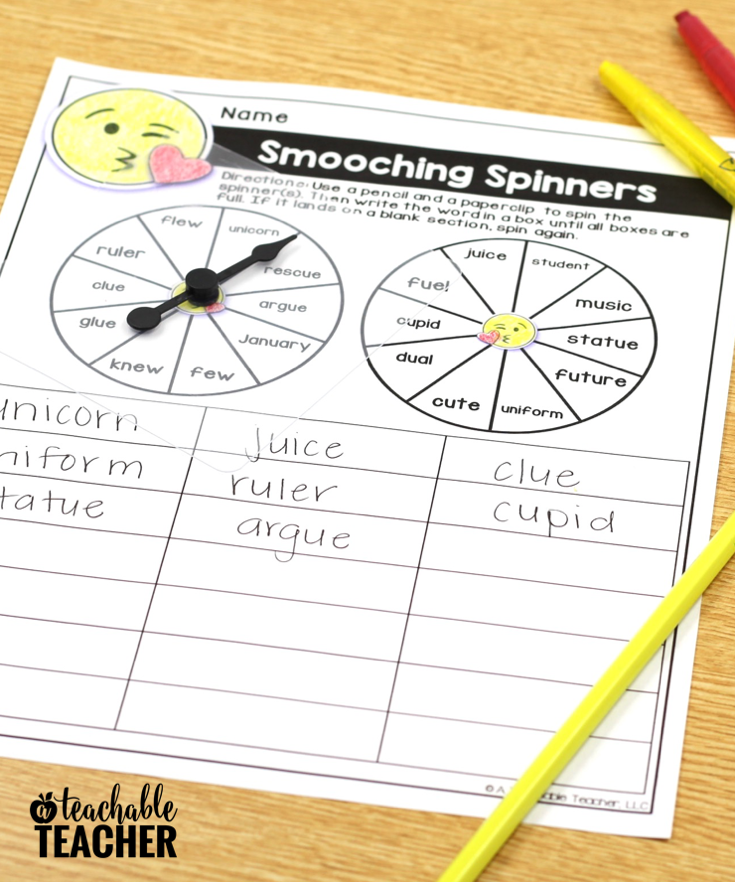 Spelling Word Worksheets – Editable for ANY Word List!