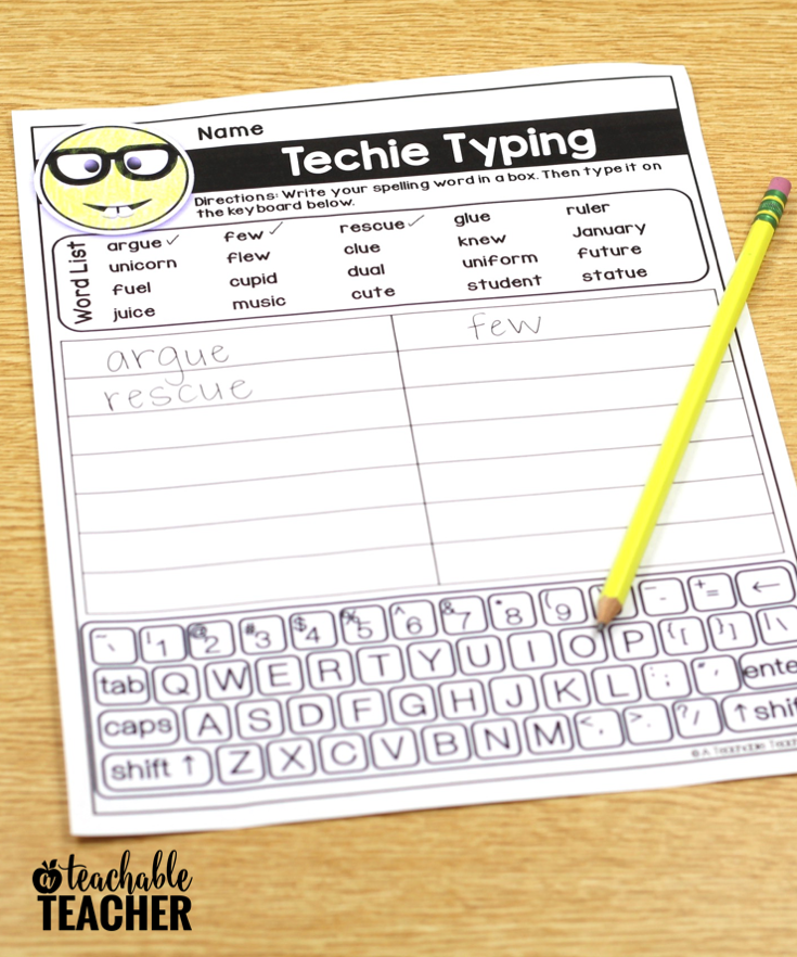 Editable Spelling Word Worksheets for ANY Word List!