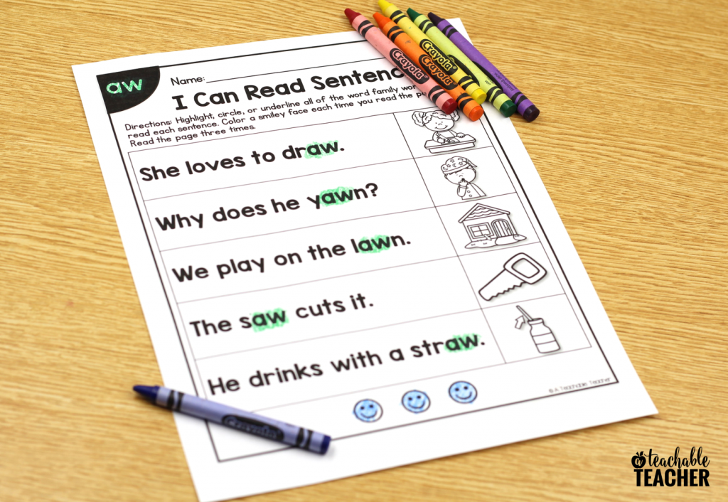 free printable phonics worksheets