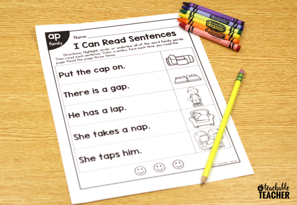 phonics sentence bundle
