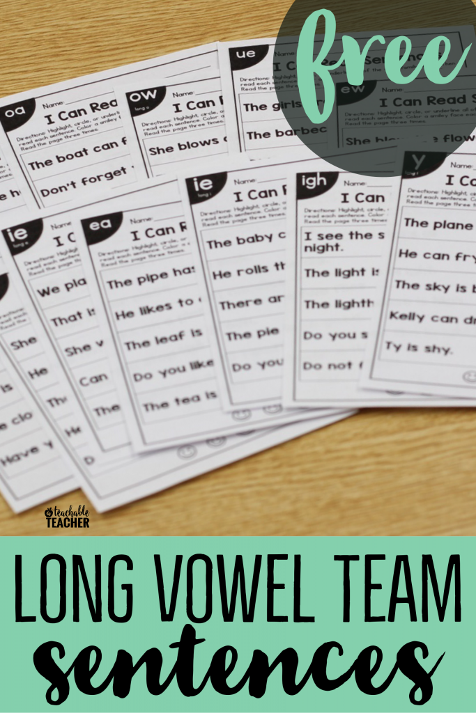 free long vowel sentences