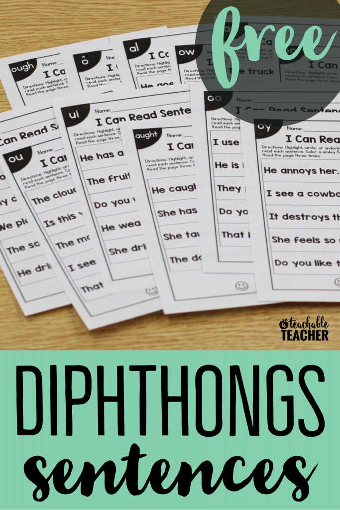 free diphthongs sentences